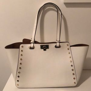 Karl Lagerfeld white leather purse